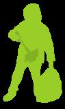 Litter pick icon