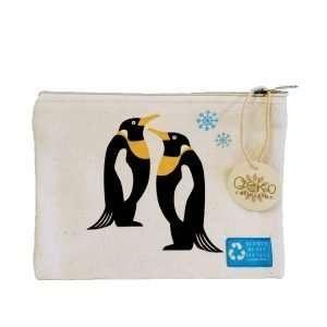 Penguin Print Zipper Pouch