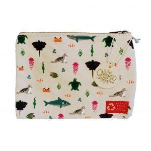 Ocean Life Print Zipper Pouch