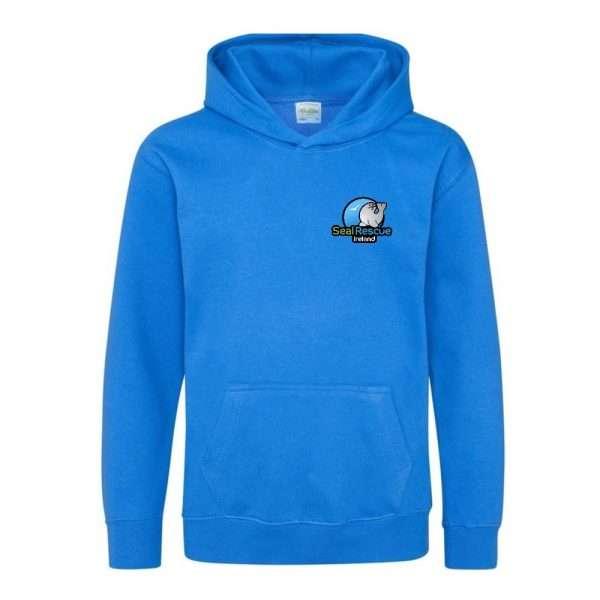 kids hoodie azure