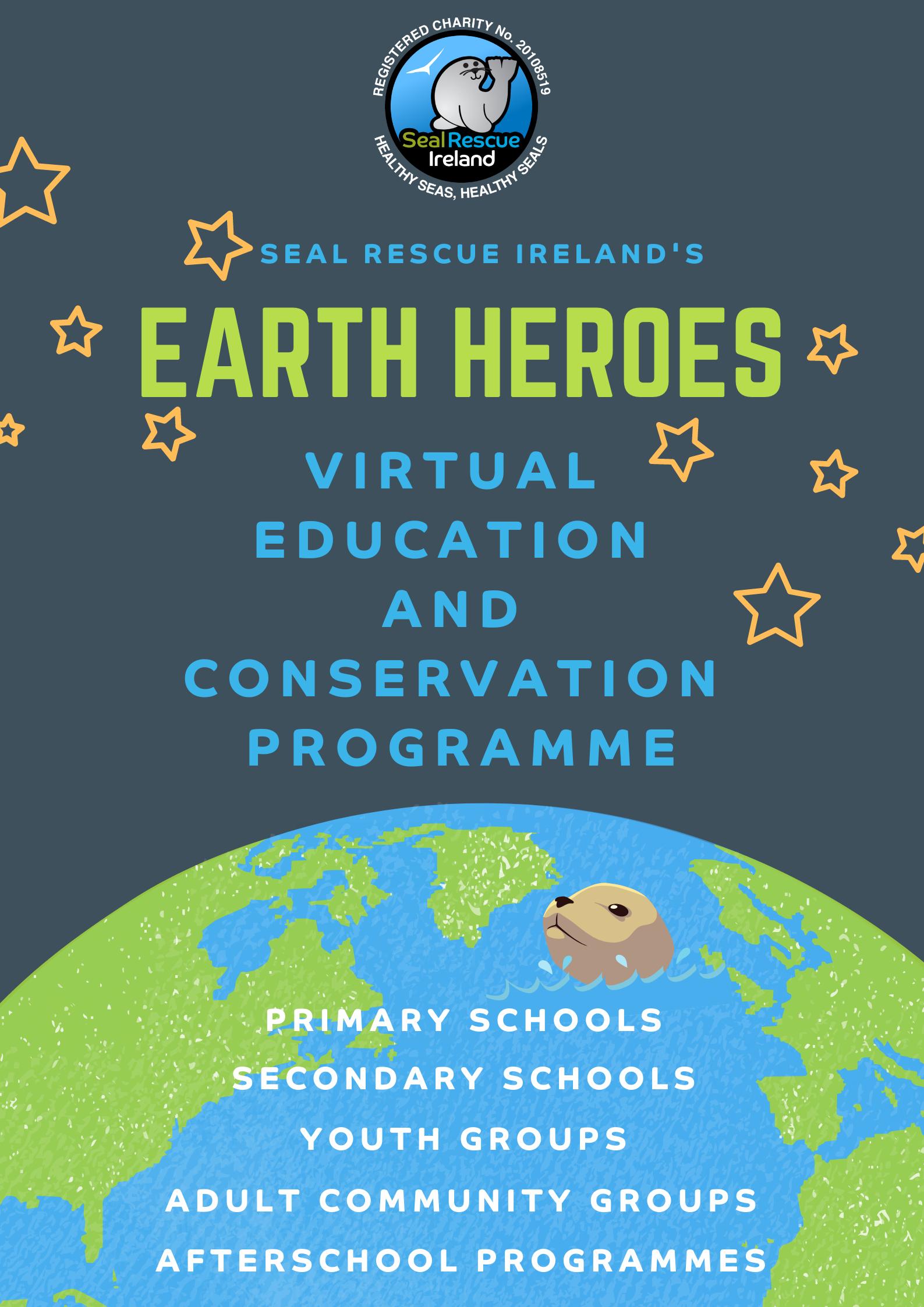 SRI's Earth Heros Online Education Programme Poster